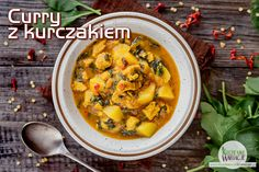 Curry z kurczakiem, ziemniakami i szpinakiem | Bezglutenowe Kuchenne Wariacje