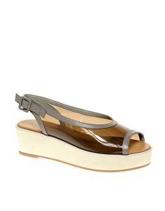 Изображение 1 из Кожаные туфли на плоской платформе из перплекса ASOS WHISTLE