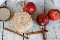 Slather on a heaping dollop of this Apple Cinnamon Sugar Scrub and the recipe will make you fall immediately into the embrace of autumn. Sugar Scrub Homemade, Sugar Scrub Recipe, Cinnamon Sugar Apples, Apple Cinnamon, Drug Store Face Moisturizer, Diy Christmas Gifts For Friends, Easy Fall Crafts, The Embrace, Diy Scrub