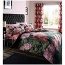 Catherine Lansfield Dramatic Floral Bedding Set The Dramatic Floral™ bedding set from Catherine Lansfield is crafted from a soft-textured polycotton blend and features a striking black, pink and green print of blooming peonies and foliage that will http://www.MightGet.com/january-2017-11/catherine-lansfield-dramatic-floral-bedding-set.asp