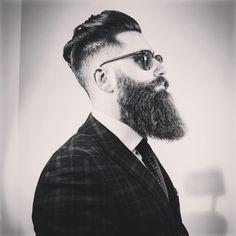 Hipster Beard, Beard Tattoo, Hipster Fashion, Beard Styles, Haircuts For Men, Beards, Facial, Porn, Hair Cuts