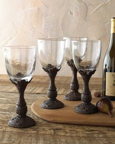 Four Wine Glasses by GG Collection at Neiman Marcus.