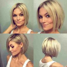 20 Bob Style Haircuts 2016 Bob Hairstyles 2015 - Short Hairstyles for Women 2015 Hairstyles, Short Bob Hairstyles, Trendy Hairstyles, Wedding Hairstyles, Bob Hairstyles For Round Face, Beautiful Hairstyles, Popular Hairstyles, Bob Style Haircuts, Pixie Haircuts