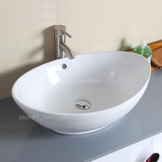 Captivating Package X Bathroom Ceramic Vessel Vanity Sink Art Basin. Our Faucet. Tall  Spout Height, Perfect To Match Bathroom Above The Counter Sink Bowl.
