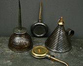 Industrial collection of Vintage Oil Cans