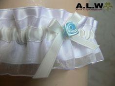 Strumpfband in Weiß und Ivoy von alw-design auf DaWanda.com