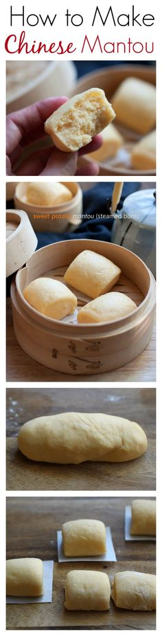 China - How to Make Chinese Mantou - soft, pillowy and fluffy steamed buns are THE BEST! Make these sweet potato mantou with step-by-steps   rasamalaysia.com