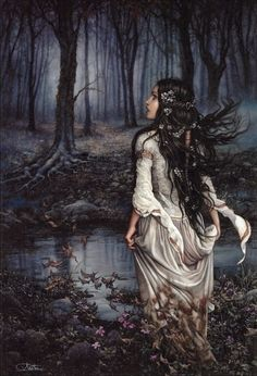 "Arantza Sestayo Art; Cover of ""Dreamer's Pool"" by Juliet Marillier"