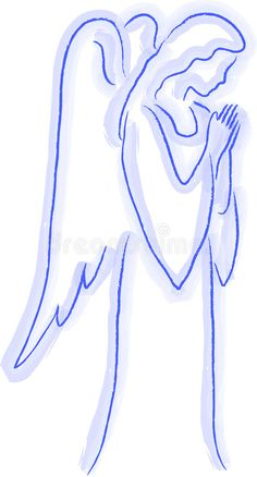 Photo about Illustration of an angel in a watercolor style. Illustration of pure, christmas, angel - 6651949 Angel Sketch, Angel Drawing, Angel Artwork, Christmas Crafts, Christmas Poinsettia, Crochet Christmas, Christmas Angels, I Believe In Angels, Angel Pictures