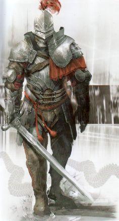 m Paladin plate helm sword traveller Wandering Fantasy Male, Fantasy Armor, Dark Fantasy, Armadura Medieval, Medieval Armor, Medieval Fantasy, Paladin, Dnd Characters, Fantasy Characters
