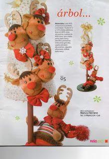 REVISTA PAÑO LENCY FIELTRO NAVIDAD 241 Reno, Maya, Teddy Bear, Sewing, Christmas Ornaments, Fabric Dolls, Christmas Crafts, Covering Chairs, Art Journals