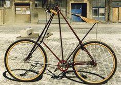 Pedersen bike with wooden fenders!