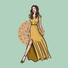 #illustration #summer #dress #woman #fashionillustration