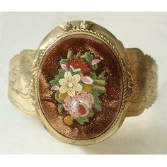 Victorian Micro Mosaic  #mosaic jewelry #micromosaic #vintagemosaicjewelry