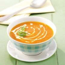Weight Watchers - Tomatenroomsoep - 2pt Chef Recipes, Low Carb Recipes, Soup Recipes, Weith Watchers, Soup Appetizers, Good Healthy Recipes, Healthy Food, Weight Watchers Meals, Love Food