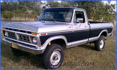 1977 F250 Highboy | 1977 F250 Highboy HB Ranger 400 A/T blue silver redone
