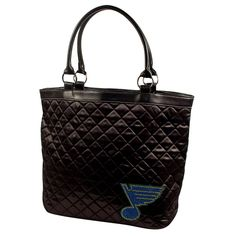St. Louis Blues NHL Sport Noir Quilted Tote