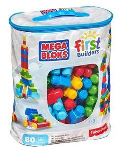 Mega Blocks 80 Piece First Builders Building Block Set New