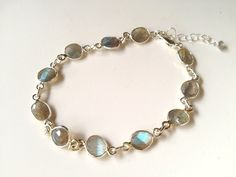 Labradorite+Sterling+Silver+adjustable+by+FigTreeJewelryandAcc,+$52.00