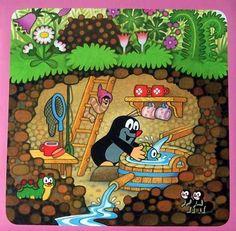 Kisvakond mese poszter mese plakát Childhood Friends, Childhood Toys, Old Cartoons, Funny Cartoons, Illusion Paintings, Fairytale Art, Children's Book Illustration, Vintage Children, Cute Cartoon