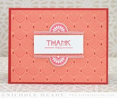 Deco Thank You Card by Nichole Heady for Papertrey Ink (March 2014)