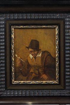 Onbekend - ( 19e/20e eeuw)  - Rokende man met kleipijp