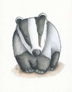 Badger Print. A professional reproduction of a watercolour and pencil painting from my Woodland Friends range. A perfect picture for a nursery or for any wall in a house. Personalised options are available. Inspired by the birth of my son, I wanted to create my favourite British woodland animals for his nursery. As the collection of critters grew, I decided to release signed prints of the original artwork to share with everyone. Professionally printed on 350 gram heavyweight acid-free…