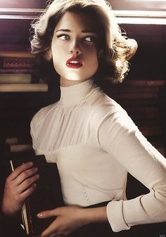 beautiful ivory colored blouse, so classic with a vintage touch