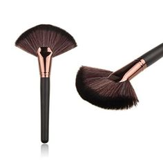 MakeUp Tool, TOOPOOT Large Fan Goat Hair Blush Face Powder Foundation Cosmetic Brush
