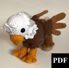 PDF Crochet Amigurumi Animal Pattern: Hippogriff/Griffin Amigurumi PATTERN by StarbeamerPatterns on Etsy https://www.etsy.com/listing/165529682/pdf-crochet-amigurumi-animal-pattern