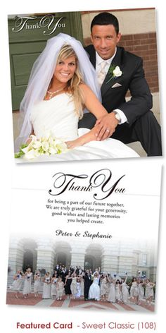 wedding thank you cards | Wedding Thank You Card- Peter and Stephanie, from Springfield, IL ...