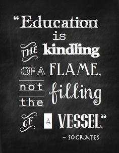 "FREE ""Education Is…"" ChalkboardPrintable   Cottage Thoughts on WordPress.com."