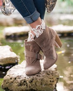 Lace Topped Bootie Socks - Grace and Lace