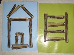 vormen naleggen met takjes