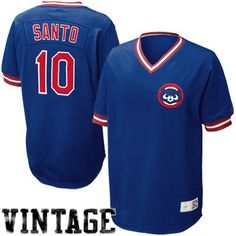 Nike Ron Santo Chicago Cubs Cooperstown Throwback Jersey - Royal Blue