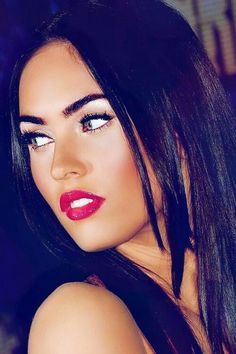 Perfect brows and bold red lip