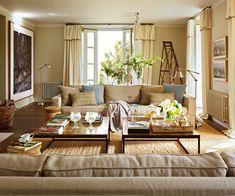 De dos en dos  Apuesta por las parejas y juega con las simetrías para organizar tu salón.
