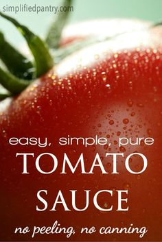 This easy tomato sauce recipe calls for nothing but tomatoes and does ...