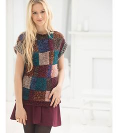Knit Fashion | Knit Pattern | Free Knit Pattern | Colorblock Slipover