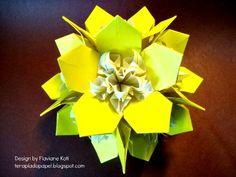 Terapia do Papel: Kusudama Flora - design Flaviane Koti
