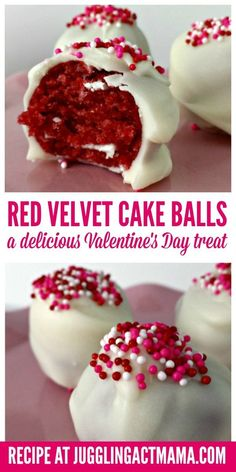 White chocolate covered Red Velvet Cake Balls are fabulously decadent!Details:13 reviews 40 minutesServes 25 · Valentine Desserts, New Year's Desserts, Valentines Day Treats, Christmas Desserts, Valentines Recipes, Valentine Cake Pops Recipe, Recipe For Cake Pops, Health Desserts, Valentines Baking