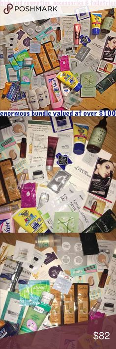 HUGE BUNDLE: HIGH END MINIS,SAMPLES,ETC. MINI/TRAVEL SIZED PRODUCTS FULL SIZED PRODUCTS LIGHTLY USED - NEW MANY HIGH END PRODUCT SAMPLES  BRANDS INCLUDE: SHU UEMURA NUDE BOBBI BROWN  REDKEN JACK BLACK  URBAN DECAY FIRST AID BEAUTY (FAB) BENEFIT  SMASHBOX GIORGIO ARMANI BANANA BOAT  EUCERIN BIORE PLEXUS ELIZABETH ARDEN ALGENIST LA MER OLE HENRIKSON ESSIE SPA TOM FORD  EPIELLE SQUEEZE ALWAYS GREEN TIDINGS DERMALOGICA CLARINS  WEN LANEIGE NAIR H&M DOVE CREST  SHEA MOISTURE  Value $120+ Brisette…