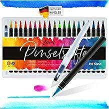 Pinselstifte Set 20+1 Aquarell Farben Kalligraphie Hand-Lettering Bullet Journal