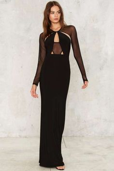 Mesh Me Up Maxi Dress - Dresses