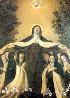 Santa Teresa de Jesus, fundadora do Carmelo Descalço ou Teresiano, Virgem e Doutora da Igreja.