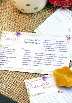 {Editable} Recipe Cards. Finally, a recipe card I can TYPE on. And it's super cute! Totally going to give these as Bridal Shower gift :D