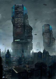Cyberpunk City, Ville Cyberpunk, Cyberpunk Kunst, Futuristic City, Cyberpunk 2077, Futuristic Architecture, Classical Architecture, Future City, Fantasy Landscape
