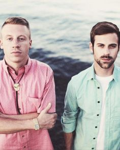 """Macklemore and Ryan Lewis.   """"We support civil rights, and hope WA State voters will APPROVE REF 74 and legalize marriage equality. """"Visit http://www.music4marriage.org for more info. Support Marriage Equality by ordering the limited edition Same Love vinyl here: http://www.subpop.com/catalog/artists...  Same Love, as featured on the debut album from Macklemore & Ryan Lewis, The Heist, will be available 10/09/2012  http://youtu.be/hlVBg7_08n0"""