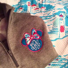 Minnie Monogram Lilly Pulitzer Fabric - Pretty Little Monograms