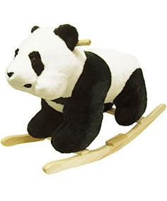 @Overstock - Gift your child with this hand-crafted plush panda bear. This comfy bear sits on a wood rocker, making it a unique addition to your childs room. This lovable bear is best for children aged two and up and has a weight limit of 80 pounds.http://www.overstock.com/Sports-Toys/Plush-Childrens-Rocking-Panda-Bear/2521964/product.html?CID=214117 $56.99